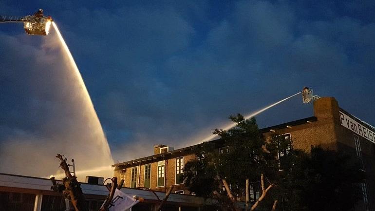 Monumentale bollenschuur Van Reisen getroffen door brand