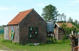 Hogeweg voorbij de Achterweg, bij de woonboten, Noordwijk